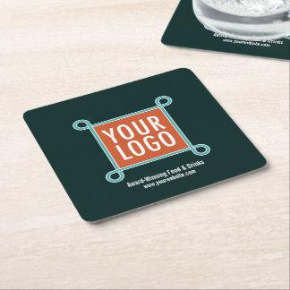 Square Paper Custom Bar Coasters Bulk Company Logo