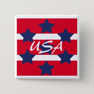 Square Patriotic Pin