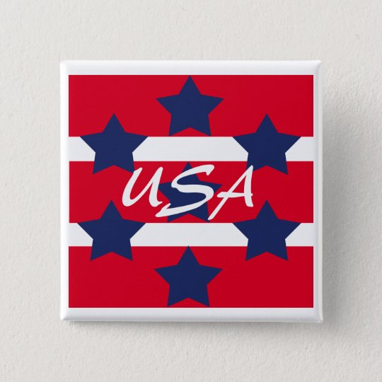 Square Patriotic Pin