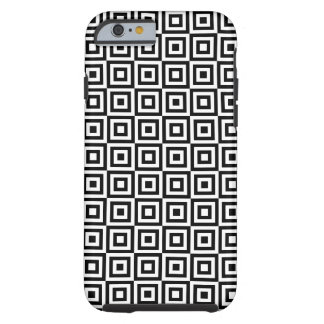 SQUARE PATTERN (BLACK AND WHITE) iPhone 6 Case Tough iPhone 6 Case