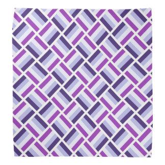 Square Pattern - Blue Violet White Bandana