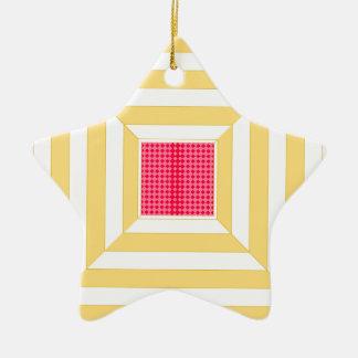Square pattern. ceramic star decoration