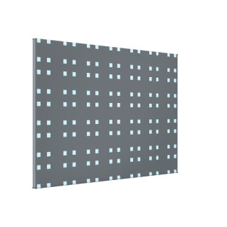Square Pattern dark grey blue Gallery Wrap Canvas