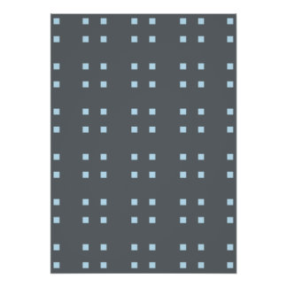 Square Pattern dark grey blue Posters