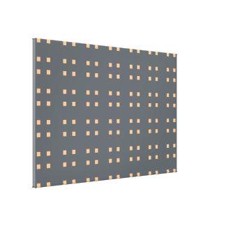 Square Pattern dark grey peach Gallery Wrap Canvas