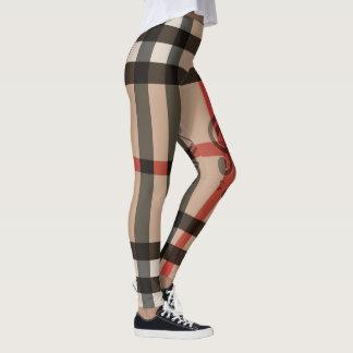 Square Pattern & Music Notes Leggings