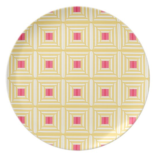 Square pattern. plate