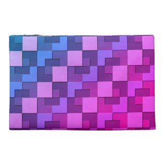 Square Pattern Travel Accessory Bag