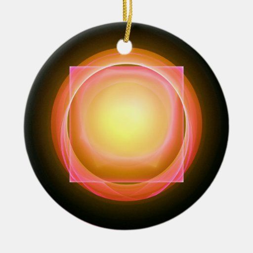 Square Peg in a Round Hole Christmas Ornaments