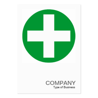 Square Photo 0155 - Big Plus Sign - Green Business Card Templates