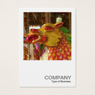 Square Photo 0358 - Merry-go-round Dragon Business Card