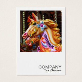 Square Photo 0440 - Merry-go-Round Horse Business Card