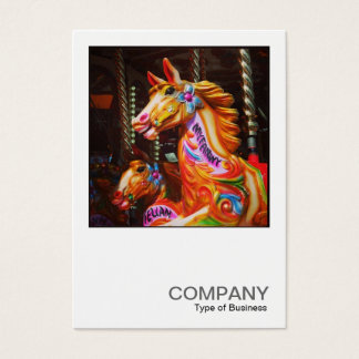 Square Photo 0441 - Merry-go-Round Horses Business Card