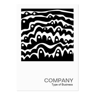 Square Photo 095 - Wavy Abstract B&W Pack Of Chubby Business Cards