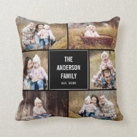 Photo Collage Custom Pillow