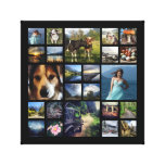 Square Photo Collage Grid with Your Pictures Canvas Print