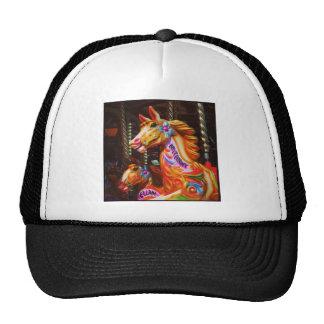 Square Photo - Merry-go-round Horses 02 Cap