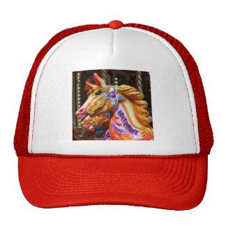 Square Photo - Merry-go-round Horses Cap