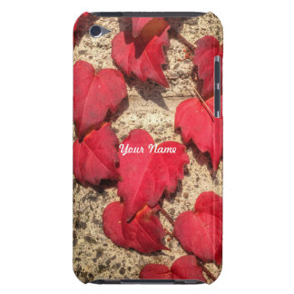 Square Photo Template Red Heart-Shaped Leaves iPod Touch Case