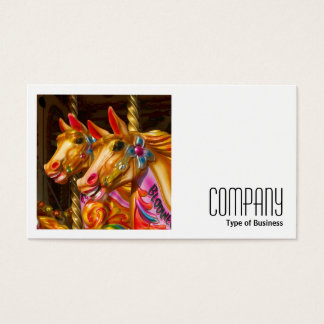 Square Photo (v2) - Merry-go-round Horses Business Card