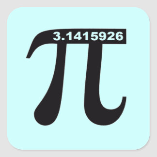 Square Pi Sticker (blue)