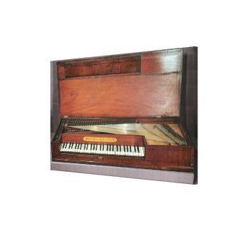 Square piano, 1767 (photo) canvas print
