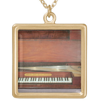 Square piano, 1767 (photo) gold plated necklace