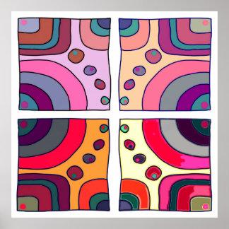 "Square poster extra large model ""Bubble Gum Art 2"