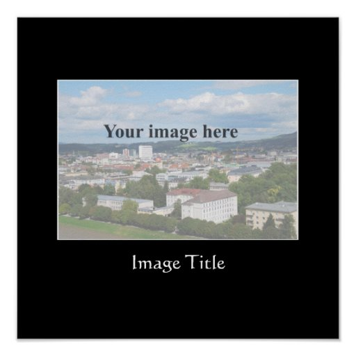 Square poster template with black mat
