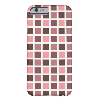 Square Print Pattern - Monochromatic Color Barely There iPhone 6 Case