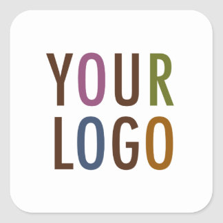 Square Promotional Business Stickers Company Logo