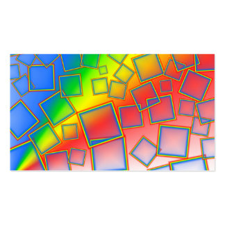 Square rainbows business cards