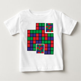 Square Red Blue Green Baby T-Shirt