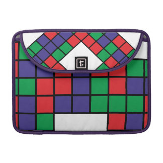 Square Red Blue Green Sleeve For MacBook Pro
