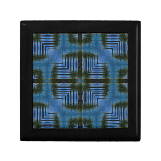 Square Reflections Blue Geometric Gift Box