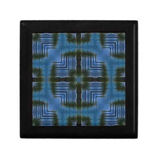 Square Reflections Blue Geometric Gift Box