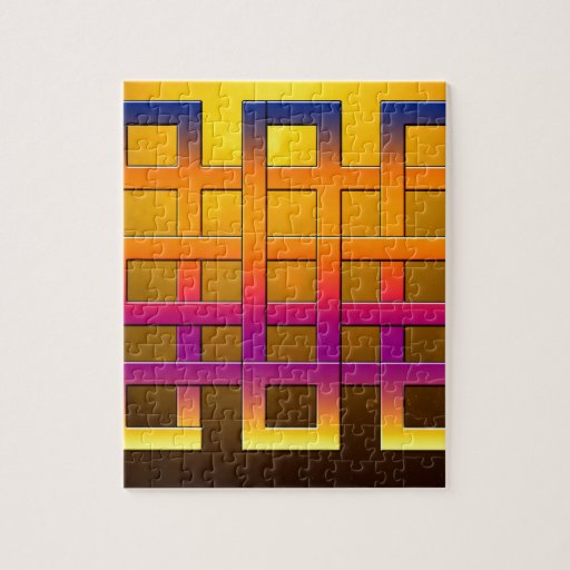 Square Ribbons Art Design Puzzle