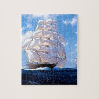 Square rigged ship at sea puzzle