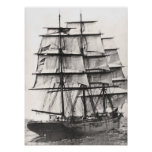 Square Rigged Ship Poster