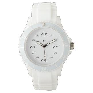 Square Root Math (Black/White) Wrist Watch