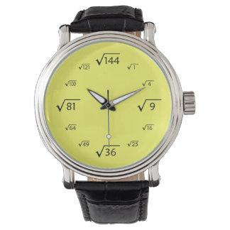 Square Root Math (Black/Yellow) Watch