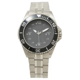 Square Root Math (White/Black) Wrist Watch