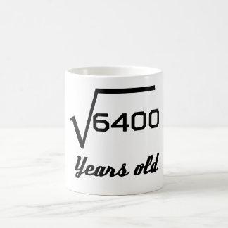 Square Root Of 6400 80 Years Old Coffee Mug