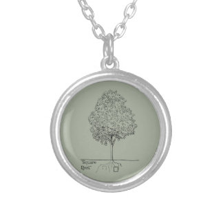 Square Root Round Pendant Necklace