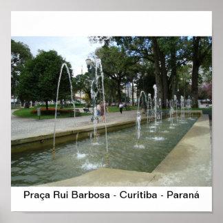 Square Rui Barbosa Poster