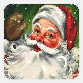 Square Santa Claus Sticker