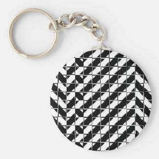 Square Shape Optical Illusion Key Chains