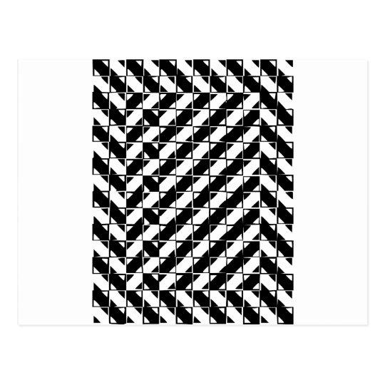 Square Shape Optical Illusion Postcard