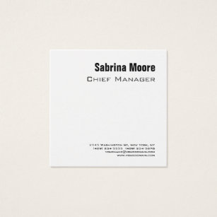 Employee business cards business card printing zazzle uk square size modern minimalist plain professional square business card reheart Images