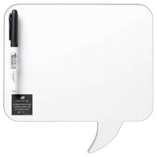Square Speech Bubble w/ Pen Dry Erase Whiteboard